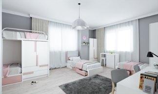 İstanbul - Kadıköy, Academic House Kadıköy İnci Kız Öğrenci Yurdu - 4 Kişilik Oda