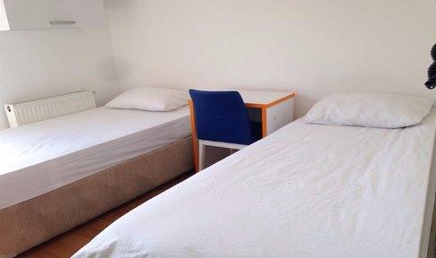 İstanbul - Kadıköy, Özel Nilüfer Gökay Kız Öğrenci Yurdu - 2 Kişilik Oda - Balkonlu